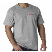 Grey T-Shirt Day Trading Rock Star Embroidery