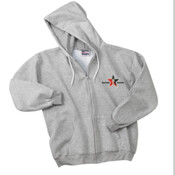 Grey Hoodie W/Zipper Day Trading Rock Star Embroidery