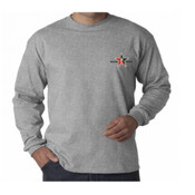 Grey L/s Day Trading Rock Star Embroidery