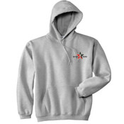 Grey Hoodie Wo/Zipper Day Trading Rock Star Embroidery
