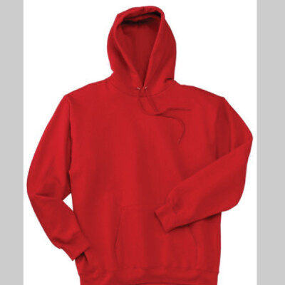 Red Hoodie Wo Zipper Day Trading Rock Star Embroidery